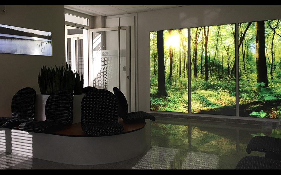 paneliertes LED Leuchtbild sorgt für beruhigende Atmosphäre