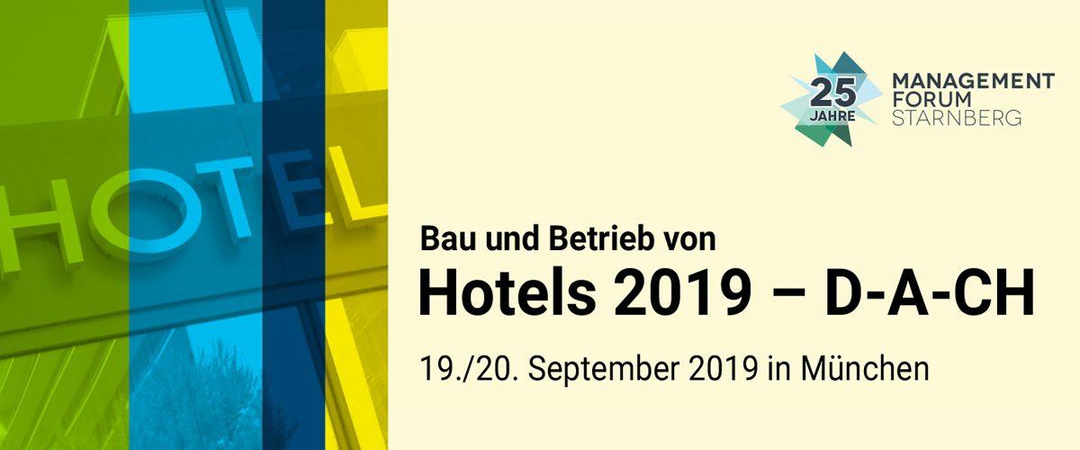 """Konferenz """"Bau und Betrieb von Hotels 2019 - D-A-CH"""""""